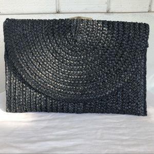 Shiraleah- Black envelope clutch